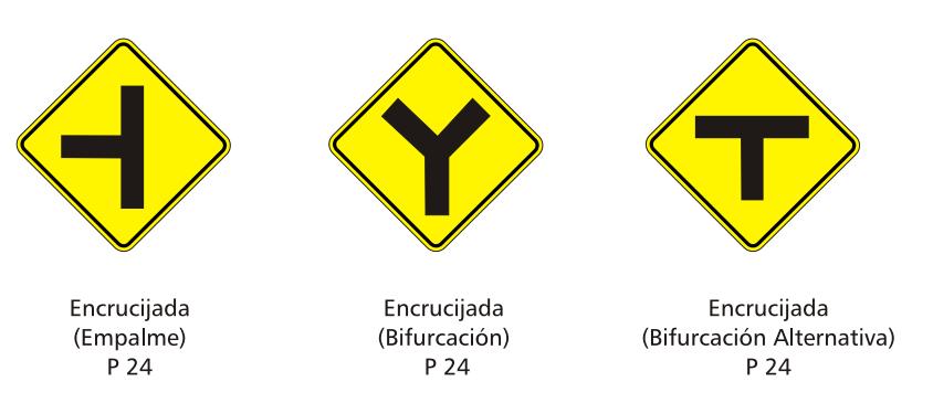 Advertencia sobre características físicas de la vía